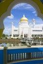 Sultan Omar Ali Saifuddien Mosque, Brunei Royalty Free Stock Photo