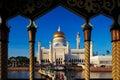 Sultan Omar Ali Saifuddien Mosque in Brunei Royalty Free Stock Photo