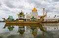 Sultan omar ali saifuddin mosque in brunei bandar seri begawan bsb march masjid and royal barge bsb march Stock Images