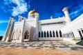 Sultan omar ali saifuddin mosque in brunei bandar seri begawan bsb march masjid and royal barge bsb march Royalty Free Stock Images