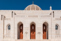Sultan qaboos mosque muscat oman courtyard of Royalty Free Stock Photo