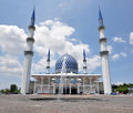 Sultan Salahuddin Abdul Aziz Shah Mosque Royalty Free Stock Images