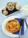 Sultana Danish Pastry Stock Image