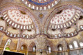 Sultanahmet Blue Mosque interior - dome Stock Images