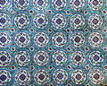 Sultanahmet Blue Mosque interior - tiles Stock Image