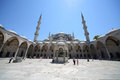 Sultanahmet mosque blue mosque istanbul jul in front of hagia sophia museum in istanbul on july in istanbul turkey Stock Images