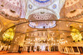 Sultanahmet mosque blue mosque in istanbul turkey interior of the Stock Photography