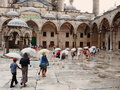 Sultanahmet mosque blue mosque istanbul turkey stanbul august people walking in Royalty Free Stock Image