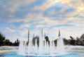Sultanahmet mosque and fountain in istanbul Stock Photo