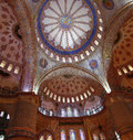 Sultanahmet mosque interior in istanbul turkey Royalty Free Stock Photos