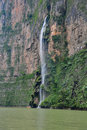 Sumidero Canyon waterfall, Mexico Stock Image