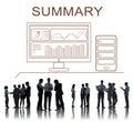 Summary progress analytics computer concept Stock Photography