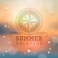 Summer abstract background with water drops wind rose Royalty Free Stock Images