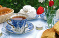 Summer afternoon tea-table Stock Photos