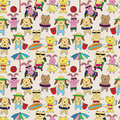 Summer animal seamless pattern Stock Image