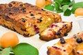 Summer apricot fruit cake Royalty Free Stock Photo