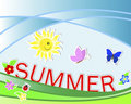 Summer background. Royalty Free Stock Photography