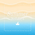 Summer background with beach sand and sea Royalty Free Stock Photos