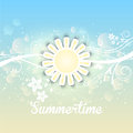 Summer background decorative with a summery floral design Stock Photography
