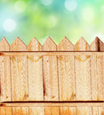 Summer background with fence beautiful Royalty Free Stock Photos