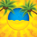 Summer background palm tree vector Stock Photos