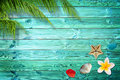 Summer background with palm trees Royalty Free Stock Photo