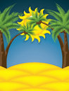 Summer background palm trees vector Royalty Free Stock Photography