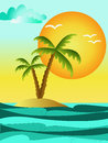 Summer background sea holiday illustration Stock Photo