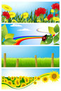 Summer background set Royalty Free Stock Photo