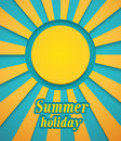 Summer background with sun vector illustration Royalty Free Stock Photo