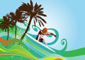 Summer background vector Stock Photography