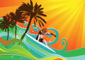 Summer background vector Royalty Free Stock Images