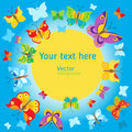 Summer Background. Vector Butterflies Background Design. Butterfly Vector Design Illustration. Royalty Free Stock Photo