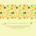 Summer background vector illustration eps contains transparencies Royalty Free Stock Photos