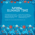 Summer background vector illustration eps contains transparencies Stock Image