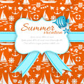 Summer background vector illustration eps contains transparencies Royalty Free Stock Photography