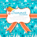 Summer background vector illustration eps contains transparencies Stock Photography