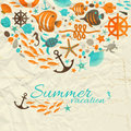 Summer background vector illustration eps contains transparencies Royalty Free Stock Photo