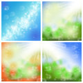Summer backgrounds abstract spring green with sun light Royalty Free Stock Images