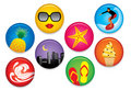 Summer Badges Royalty Free Stock Images