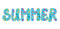 Summer banner with flip flops funny icon Royalty Free Stock Photos