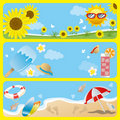 Summer banner set Royalty Free Stock Photo