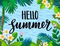 Summer banner template.