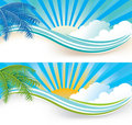 Summer banners Royalty Free Stock Photography