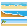 Summer beach banners Stock Photography