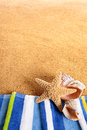 Summer beach border background copy space vertical Royalty Free Stock Photo