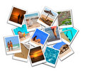 Summer beach collage Stock Photography