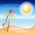 Summer beach colorful vector background Royalty Free Stock Image