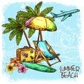 Summer Beach Concept Royalty Free Stock Photo