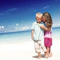 Summer Beach Family Fun Enjoyment Children Concept Royalty Free Stock Photo